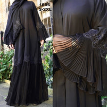 Load image into Gallery viewer, Malaysia Pleated Muslim Abaya - TAIGS000