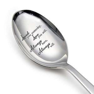 Engraved long Spoon love gift for HIM / HER