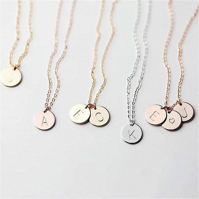 Alphabet Pendant Necklace Gift - TAIGS000