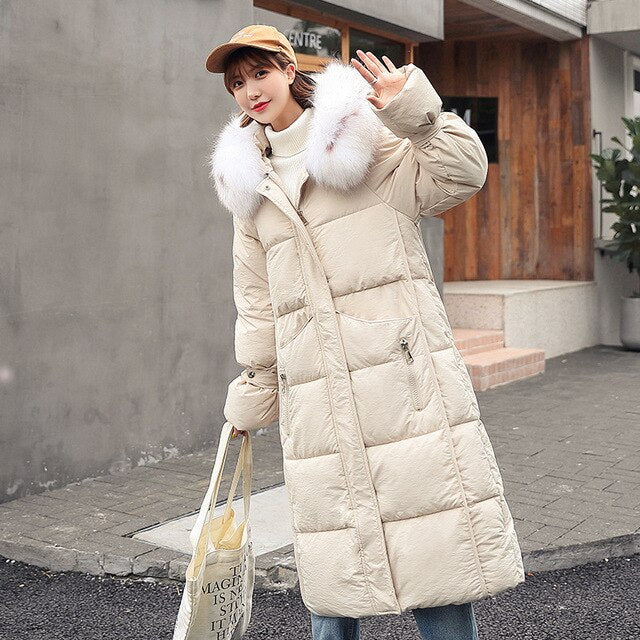 Fur Hooded Long Parka - TAIGS000