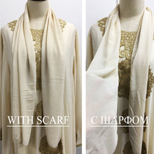 Load image into Gallery viewer, Arabian Chic Ethnic Embroidery Abaya with Scarf - TAIGS000