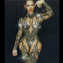 Load image into Gallery viewer, Crystal Bodysuit stage Wear - TAIGS000