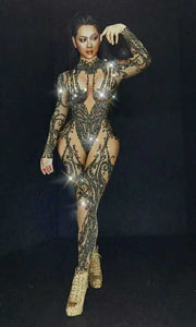 Crystal Bodysuit stage Wear - TAIGS000