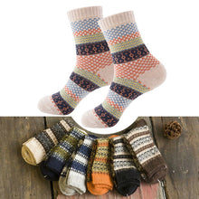 Load image into Gallery viewer, Vintage Striped Totem Winter Socks - TAIGS000