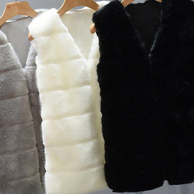 Faux Fur Vest Plus Size - TAIGS000