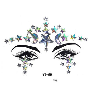 Face Gems Tattoo - TAIGS000