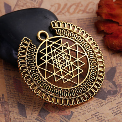 Golden Sri Yantra Meditation Pendant - TAIGS000