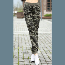 Load image into Gallery viewer, camouflage cargo pants - TAIGS000