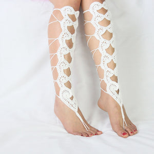 Crochet Barefoot Gladiator Sandals - TAIGS000
