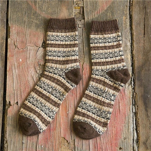 Vintage Striped Totem Winter Socks - TAIGS000