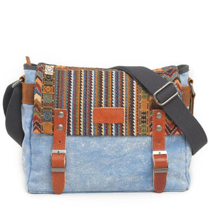 Ethnic Canvas Crossbody Bag - TAIGS000