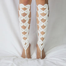 Load image into Gallery viewer, Crochet Barefoot Gladiator Sandals - TAIGS000