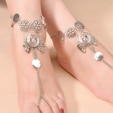 Load image into Gallery viewer, Hollow Flower Tassel Anklets - TAIGS000
