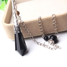 Load image into Gallery viewer, Black obsidian Reiki pendulum - TAIGS000