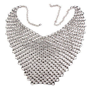 Metal Body Necklace Chain Bra - TAIGS000