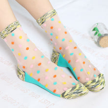 Load image into Gallery viewer, Polka Dot transparent Socks - TAIGS000