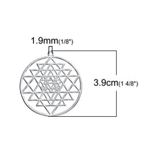 Load image into Gallery viewer, Silver Sri Yantra Meditation Pendant - TAIGS000