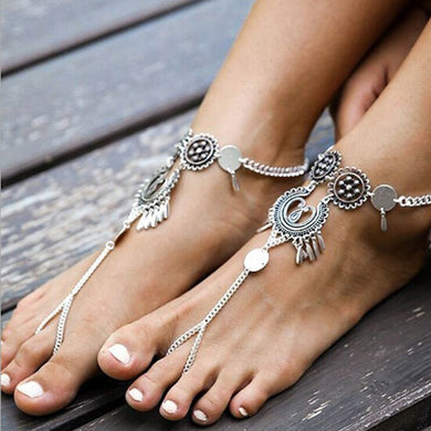 Antique Silver Chic Anklets - TAIGS000