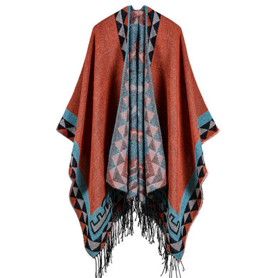 Geometric Pattern Cape - TAIGS000