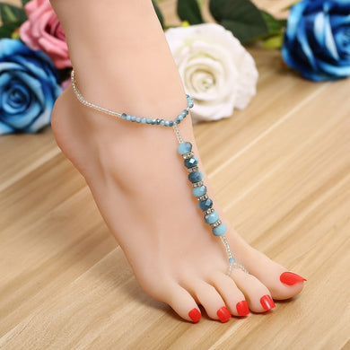 Crystal Charm Anklets - TAIGS000