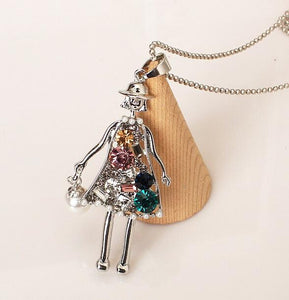 Crystal Long Pendant Necklace - TAIGS000