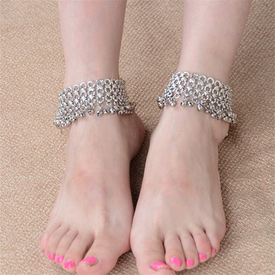Sexy Vintage Silver bells Anklet - TAIGS000
