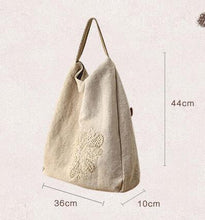 Load image into Gallery viewer, Hand Embroidered Linen Bag - TAIGS000