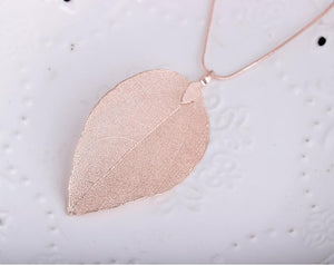 Leaf Pendant Necklace - TAIGS000