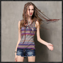 Load image into Gallery viewer, Sleeveless Stripes Top - TAIGS000