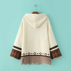 chic embroidered Hooded sweater - TAIGS000
