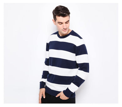 Thick Stripes Slim Fit Pullover Men - TAIGS000