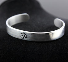 Load image into Gallery viewer, Silver OM Cuff Bangle - Men - TAIGS000