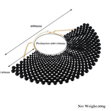 Load image into Gallery viewer, Chunky Statement Pearl Necklace Maxi - TAIGS000