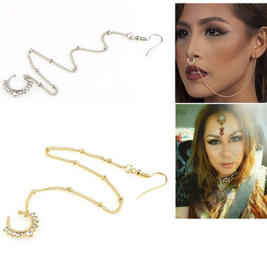 Clip on Nose Ear Chain - TAIGS000