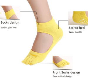 Five Fingers Backless yoga Socks - TAIGS000