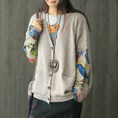 Single Breasted Bat sleeve Cardigan - TAIGS000