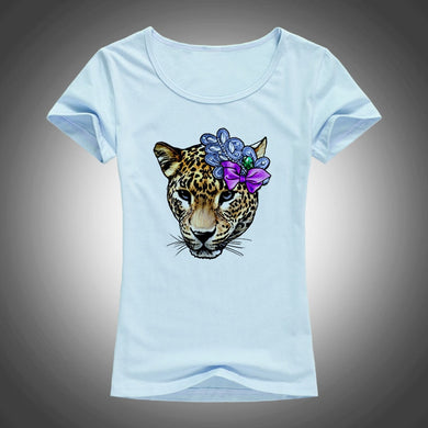 leopard printed summer tops - TAIGS000