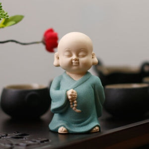 wishing buddha statue tea pet in bright colors - TAIGS000