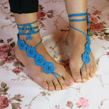 Load image into Gallery viewer, Crochet Flower Barefoot Sandals - TAIGS000