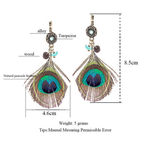 peacock feather chain - TAIGS000