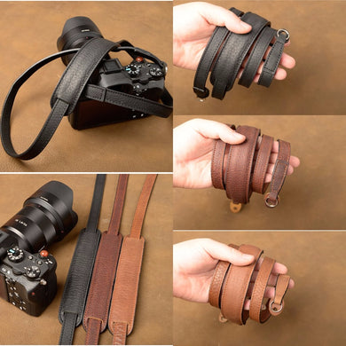 Handmade Genuine Leather Camera Strap - TAIGS000