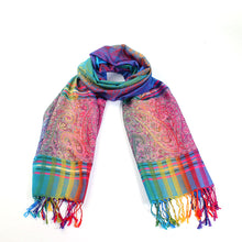 Load image into Gallery viewer, Indian Tippet Paisley Scarf - TAIGS000