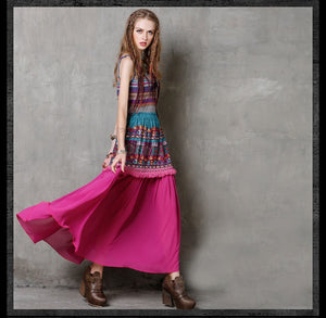 Ethnic Layer Skirt - TAIGS000