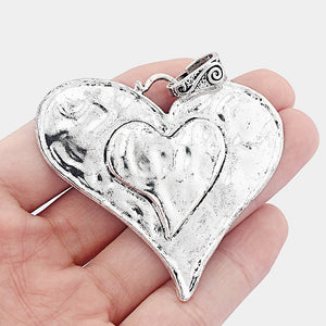 Hammered Heart Pendants - TAIGS000