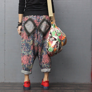 Patchwork Denim Trousers - TAIGS000