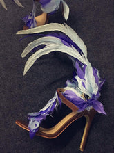 Load image into Gallery viewer, Blue Feather Women Leather Sandals - TAIGS000