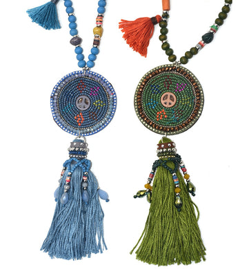 Bohemia Long Fringe Necklace - TAIGS000