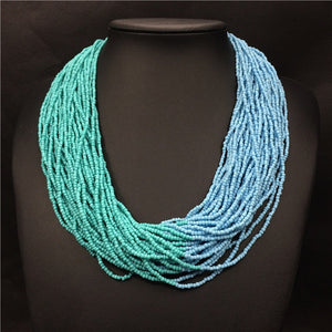 Acrylic Beads Layered Necklace - TAIGS000