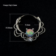 Load image into Gallery viewer, Opal Stone Septum Ring - TAIGS000