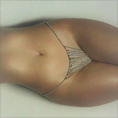 Belly Chain Crystal Thong - TAIGS000